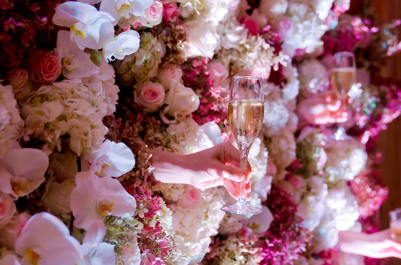 Champagne Wall, Floral Wall, GRO Designs, GRO Event, floral, design