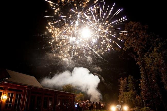 fireworks, send off, wedding, GRO designs
