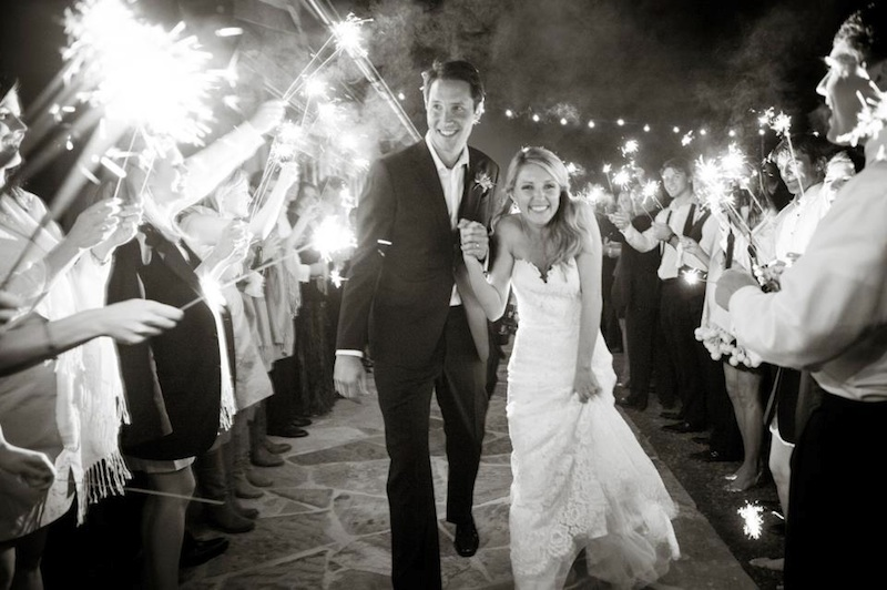 wedding, sparklers, send-off, atlanta